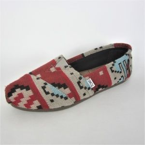 Toms Classic Southwest Red Gray 11 Barely Worn